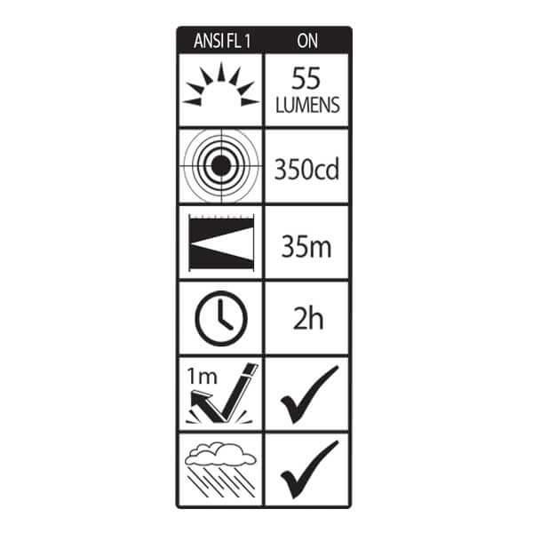 Flashlight AL-130B - AlpinPro - Waterproof aluminium with ultra bright LED