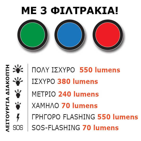 Flashlight AT-402 - AlpinPro - With high brightness LED