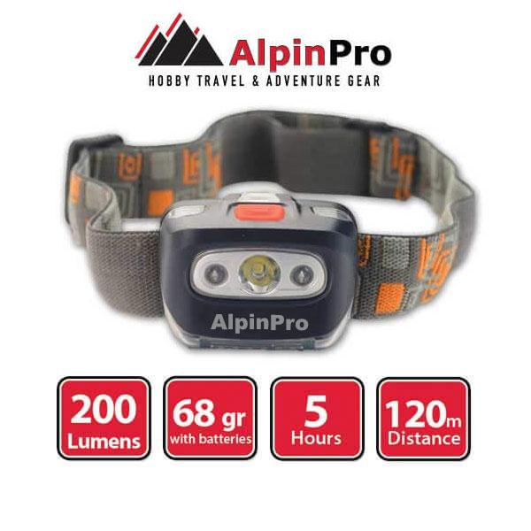 Φακός CA-3178 - AlpinPro - Αδιάβροχος - Κεφαλής