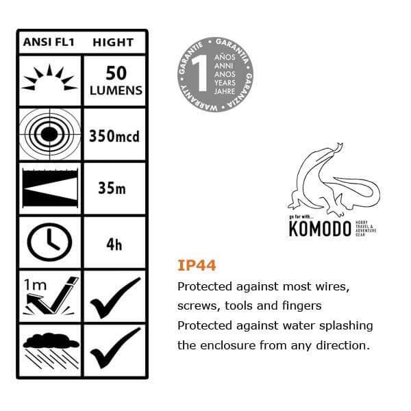 Flashlight CA-7003C - Komodo - Waterproof - REchargeble