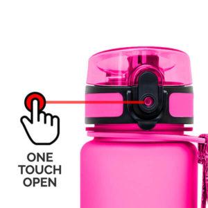 AlpinPro water bottle - easy open - pink