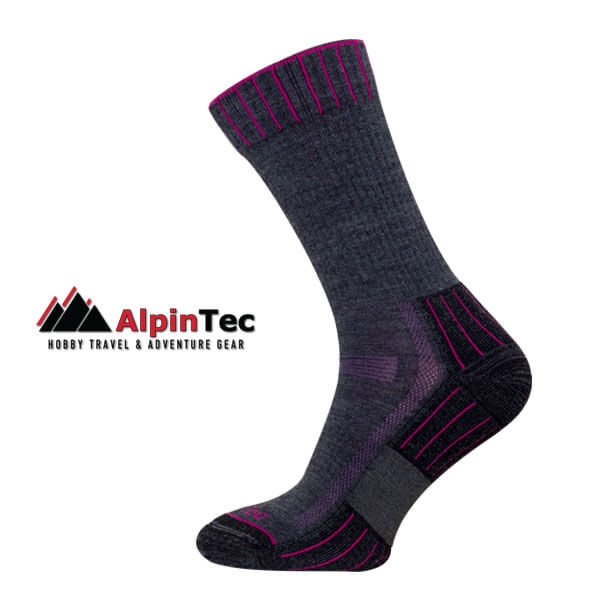 Hiking Lite Socks - AlpinTec - Grey - Purple