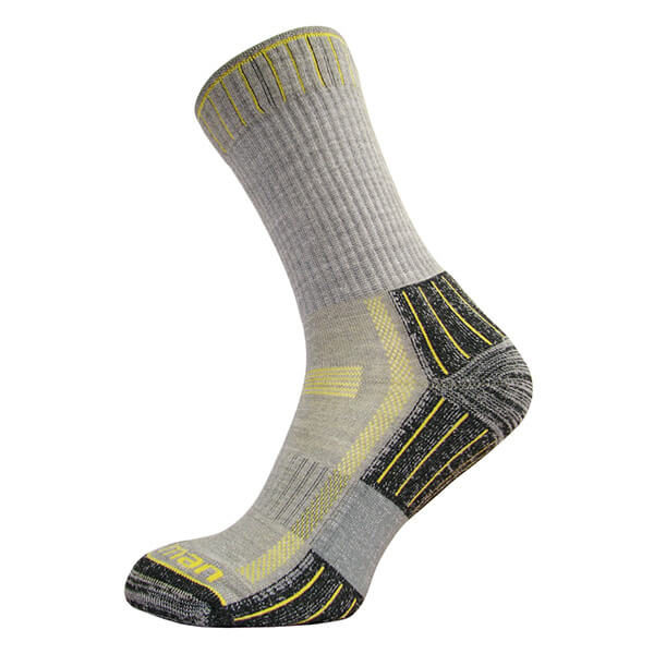 Hiking Lite Socks - Grey-Yellow