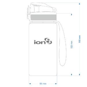 AlpinPro Water bottle 350ml measurements