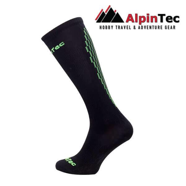 Professional High Compress Socks - AlpinTec - Κάλτσες συμπίεσης - μάυρο