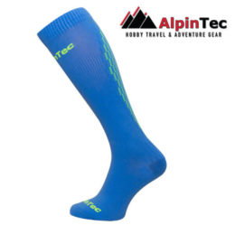 Professional High Compress Socks - AlpinTec - Compression socks - blue