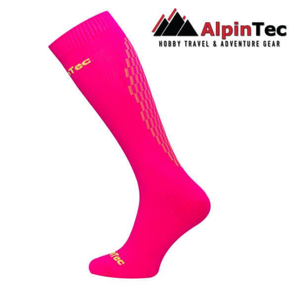 Professional High Compress Socks - AlpinTec - Compression socks - pink