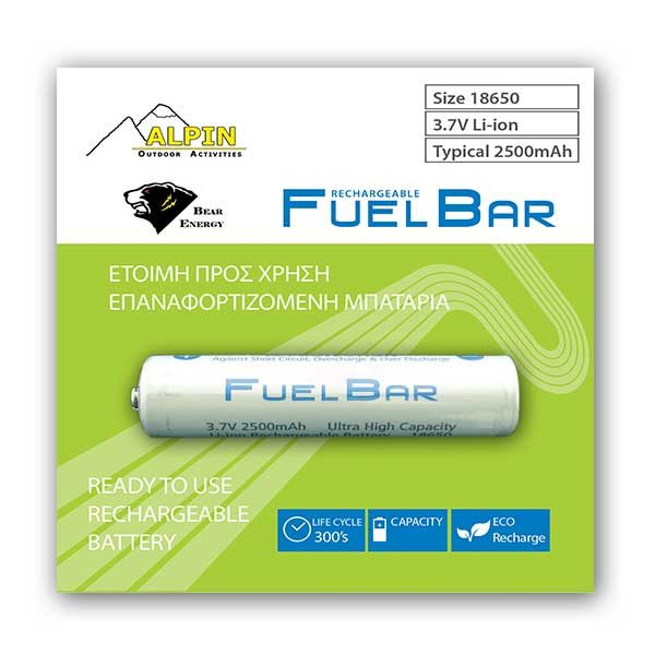 Battery-RB-39 - AlpinPro - Rechargeable battery 1 x 3.7V 2500mAh