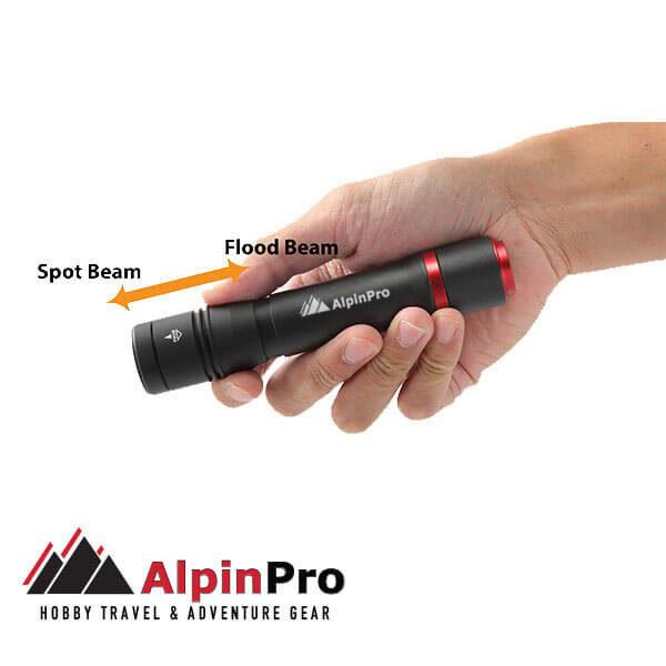 Flashlight TM-04R - Waterproof - Rechargeble