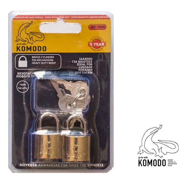 Security padlock 20mm SETx2 - Komodo - High security