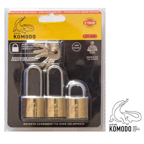 Λουκέτο ασφαλείας 25ΜΜ SETx3 - Komodo - Υψηλή ασφάλεια
