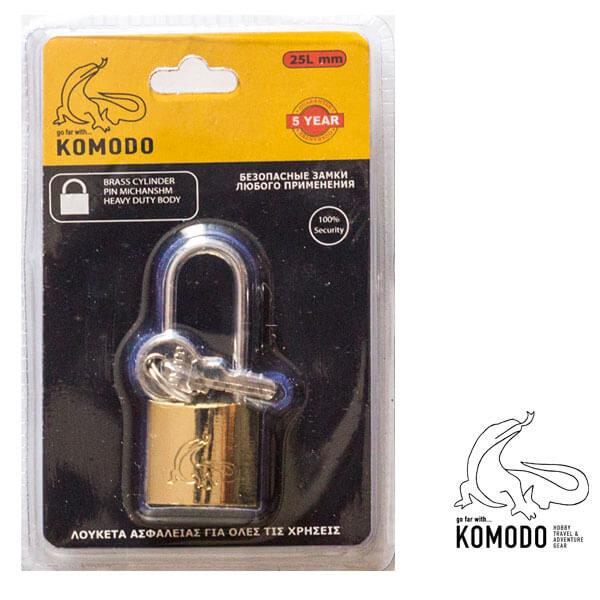 Λουκέτο ασφαλείας μακρύλαιμο 25ΜΜ - Komodo - Υψηλή ασφάλεια