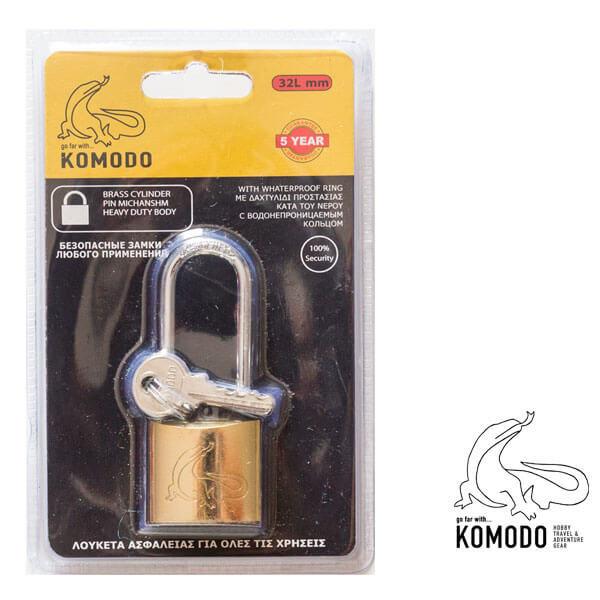 Λουκέτο ασφαλείας μακρύλαιμο 32ΜΜ - Komodo - Υψηλή ασφάλεια