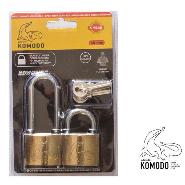 Λουκέτο ασφαλείας 38ΜΜ SETx2 - Komodo - Υψηλή ασφάλεια