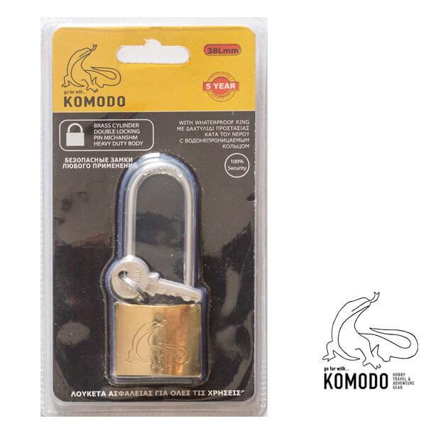 Λουκέτο ασφαλείας μακρύλαιμο 38ΜΜ - Komodo - Υψηλή ασφάλεια