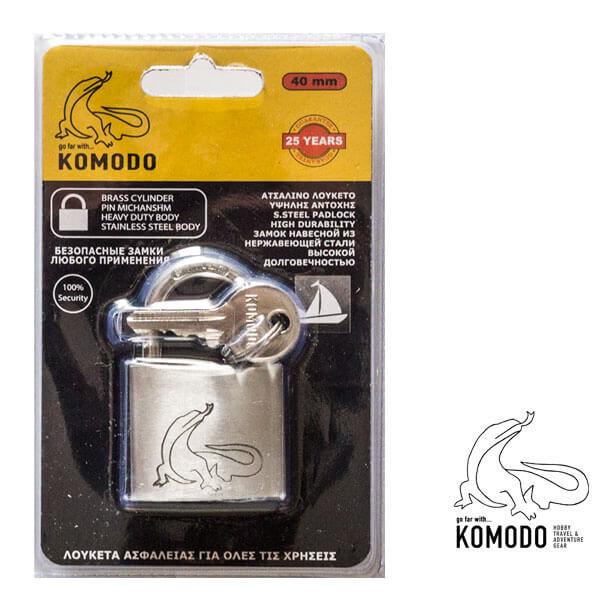 Stainless-steel padlock 40MM - Komodo - Double locking