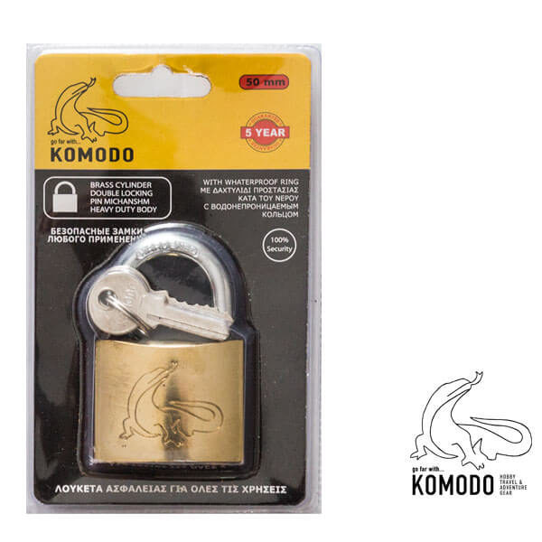 Λουκέτο ασφαλείας 50ΜΜ - Komodo - Υψηλή ασφάλεια