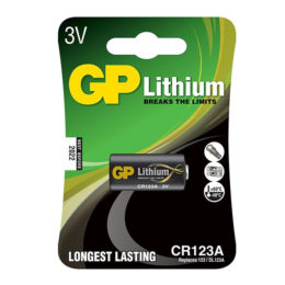 Battery GP CR123A 3V Lithium Cilyndrical