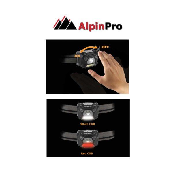 FLASHLIGHT WH-302 - SENSOR+ Waterproof flashlight ALPINPRO - Functionality