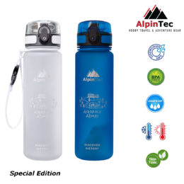 BPA Free Water Bottle 500ml - AlpinPro - Leak Proof