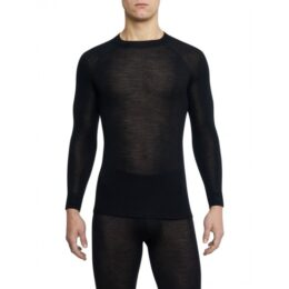 MERINO WARM LONG-SLEEVE SHIRT black